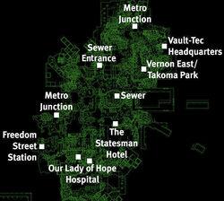 Vernon Square map