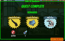 FoS Dart of Harkness rewards