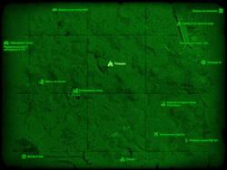 FO4 Пещера (Автозаправка «Красная Ракета») (карта мира)