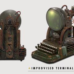 Concept art of the handmade terminal