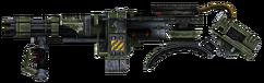 Shoulder mounted machine gun