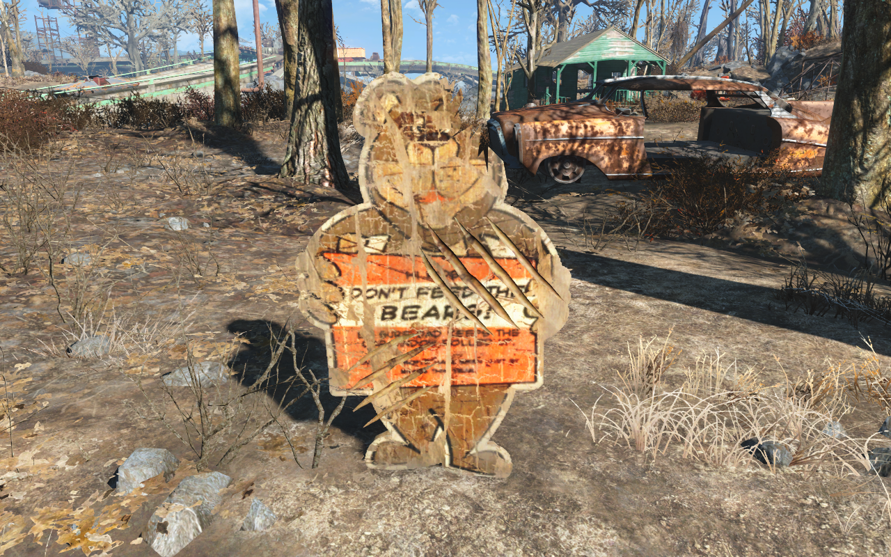 FO4 Don't feed the bears