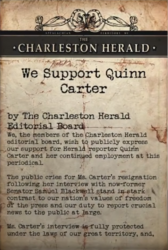 The Herald Supports Quinn Carter note