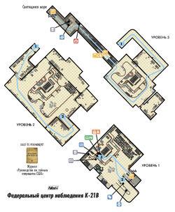 FO4 VDSG Федеральный центр наблюдения K-21B карта