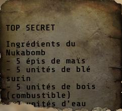 FO76 Ingrédients pour Nukabomb 01