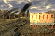 Fallout New Vegas Nipton city sign