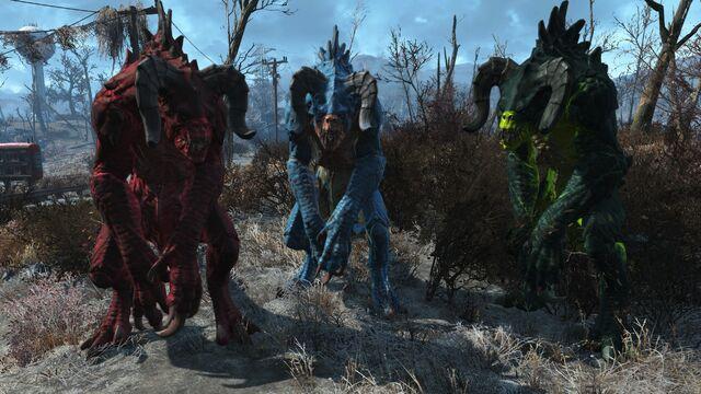 File:FO4 Chameleon Deathclaw Line-up.jpg