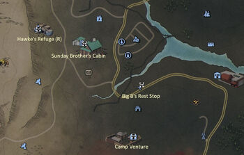 FO76 Power Armor Map Mire South