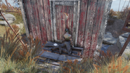 FO76 Raider outhouse and moat (Raider note)