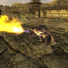 Атака вогняного гекона в <i>Fallout: New Vegas</i>