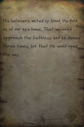 His home note