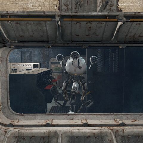 First sighting with Curie in Vault 81 during the quest <a href=