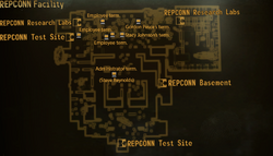 REPCONN test site facility map