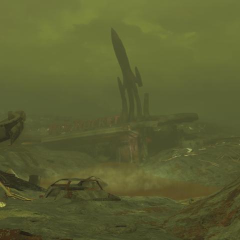 Вид на «Червону ракету» з боку печери