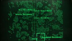 Abandoned residence loc map