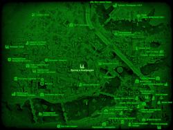 FO4 Кратер в Кембридже (карта мира)