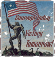 FO4 posters Courage Today Victory Tomorrow