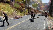 Fo76 Merchant killed by Scorched