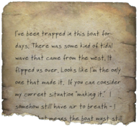 FO4 Bottle Message Note - Trapped For Days