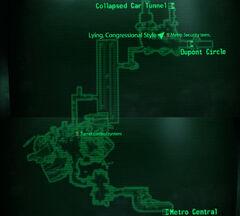 Metro Dupont Circle Station map
