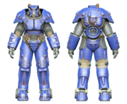 FO4CC X-01 power armor blue