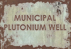 FO4 Municipal Plutonium Well sign