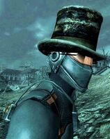 Chinese stealth armor with Lucky shades and Lincoln's hat
