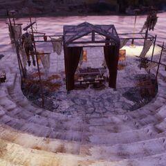 An exterior ritual site