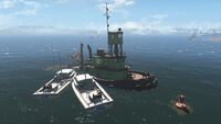 FO4 Spectacle Island (Sunken Supertanker)