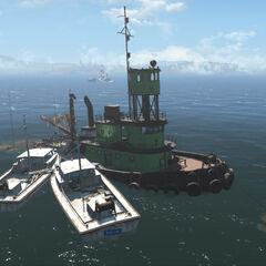 Unmarked location: Sunken supertanker