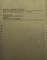FO76 Inventaire du SAS C7