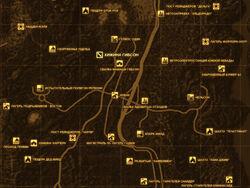 FNV Карта ХИЖИНА ГИБСОН