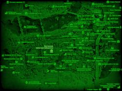 FO4 Бостонская публичная библиотека (карта мира)