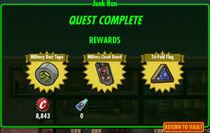 FoS Junk Run rewards