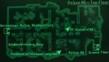 Germantown PHQ top floor map