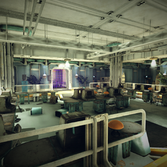 The bunker's admission area, where new residents must fully register themselves