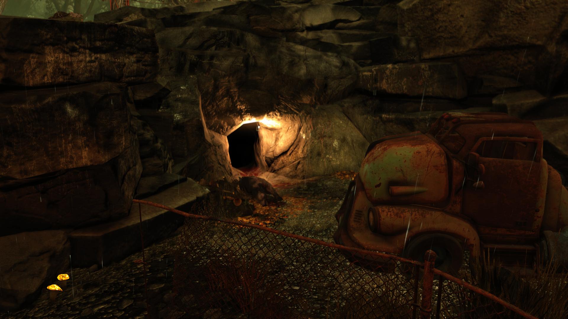 Fo76 Abandoned waste dump cave BETA