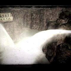 Water pouring out of the dam in the opening scene for <i>Fallout: New Vegas</i>