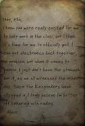 Letter of resignation HF note