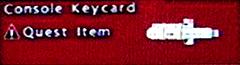FoBoS console keycard