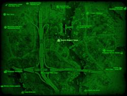 FO4 Болото Форест-Гроув (карта мира)