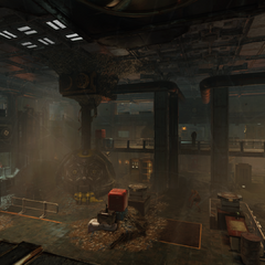 A view into the reactor room