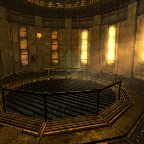 Interior intake tower 1