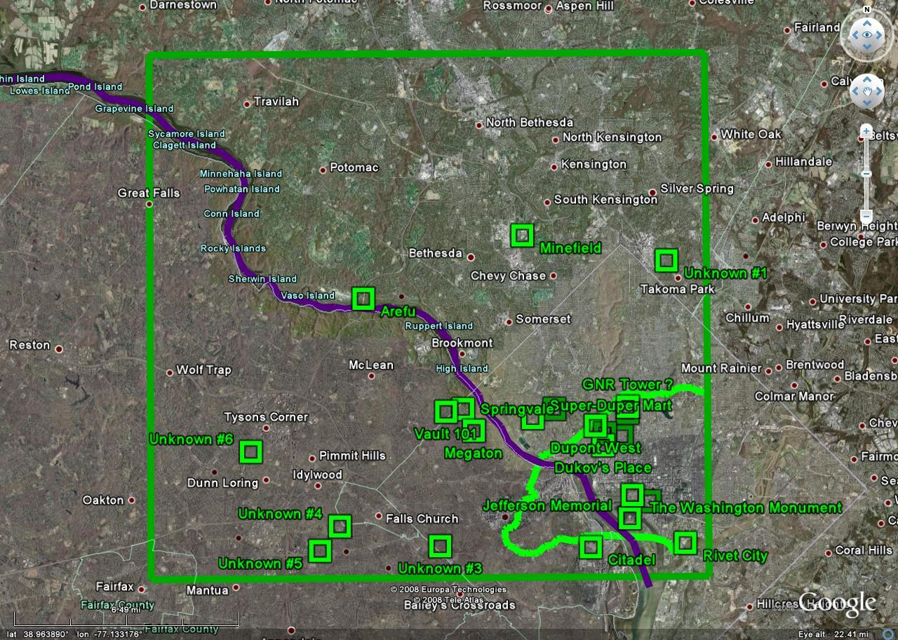 fallout 3 karte Image   Map1. | Fallout Wiki | FANDOM powered by Wikia