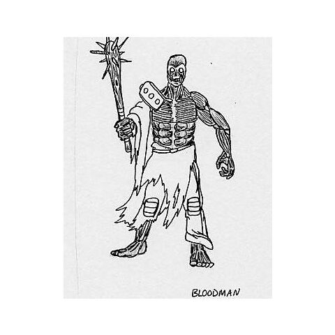 Bloodman - early ghoul concept art for <i>Fallout</i>