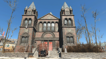FO4 Union's Hope Cathedral main entrance
