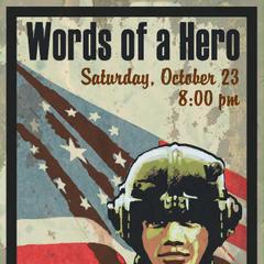 Рекламний постер заходи «Мова в Центрі Ветеранів», на якому був повинні виступити Чоловічий персонаж