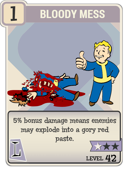 Bloody Mess (perk) | Fallout Wiki | FANDOM powered by Wikia