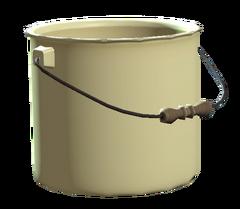 Unused enamel bucket
