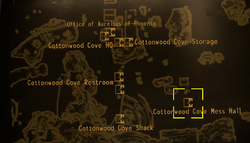 Cottonwood Cove mess hall map